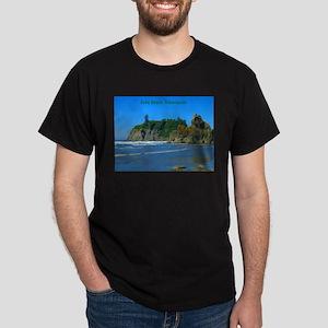 Ruby Beach (caption) Dark T-Shirt