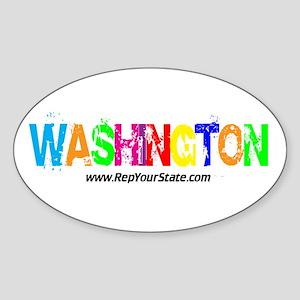 Colorful Washington Oval Sticker