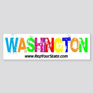 Colorful Washington Bumper Sticker