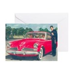 Red Studebaker on Greeting Cards (Pk of 10)