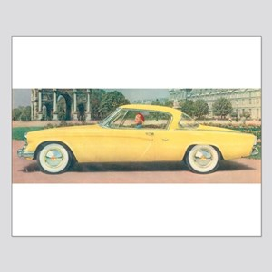 Yellow Studebaker on Small Poster