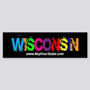 Colorful Wisconsin Bumper Sticker