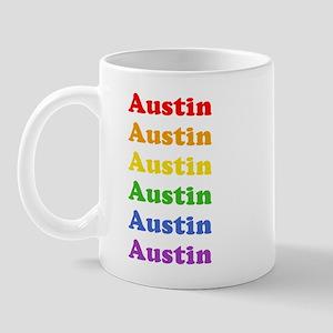 Austin (retro rainbow) Mug