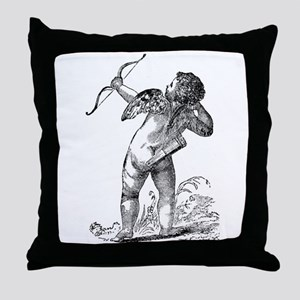 Vintage Cupid 2 Throw Pillow