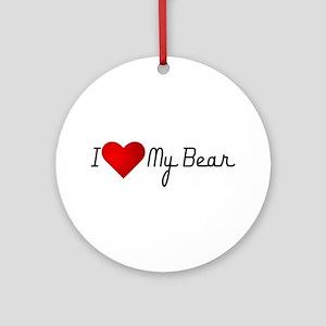 I Heart my Bear Ornament (Round)