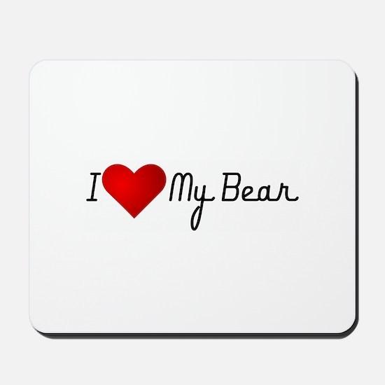I Heart my Bear Mousepad