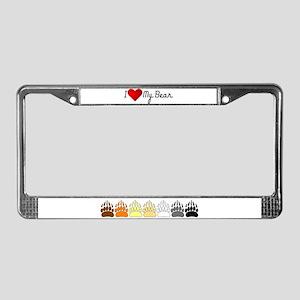 I Heart my Bear License Plate Frame