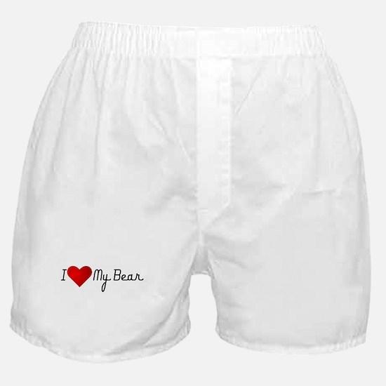 I Heart my Bear Boxer Shorts