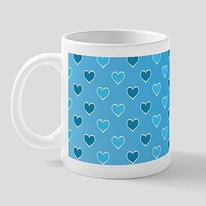 Blue Heart Pattern Mug