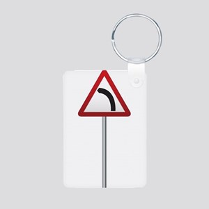 Bend Ahead Signpost Keychains