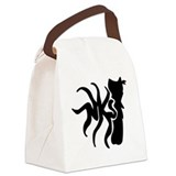 Ninja kitty squid Canvas Lunch Bag