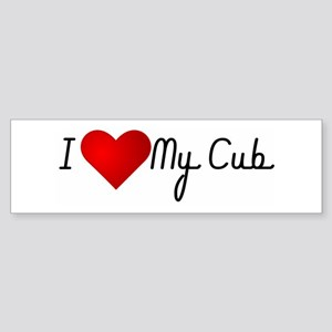 I Heart My Cub Bumper Sticker