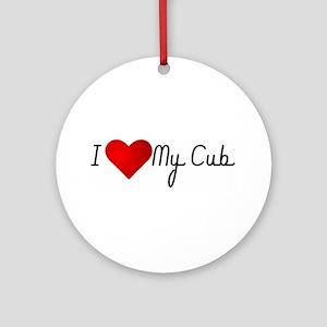 I Heart My Cub Ornament (Round)
