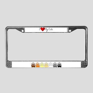 I Heart My Cub License Plate Frame