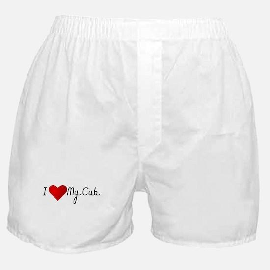 I Heart My Cub Boxer Shorts