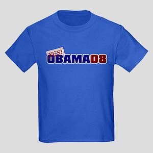 YES!OBAMA08 Kids Dark T-Shirt