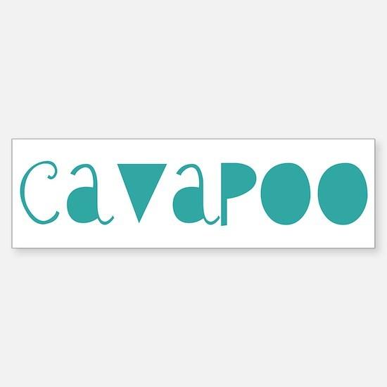 Cavapoo (fun blue) Bumper Bumper Bumper Sticker