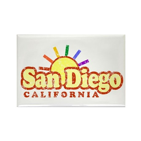 Sunny Gay San Diego, California Rectangle Magnet (