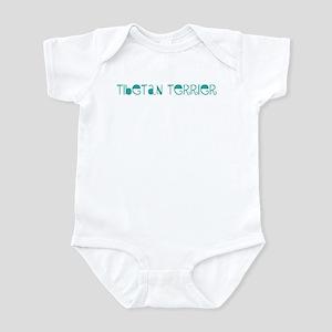 Tibetan Terrier (fun blue) Infant Bodysuit