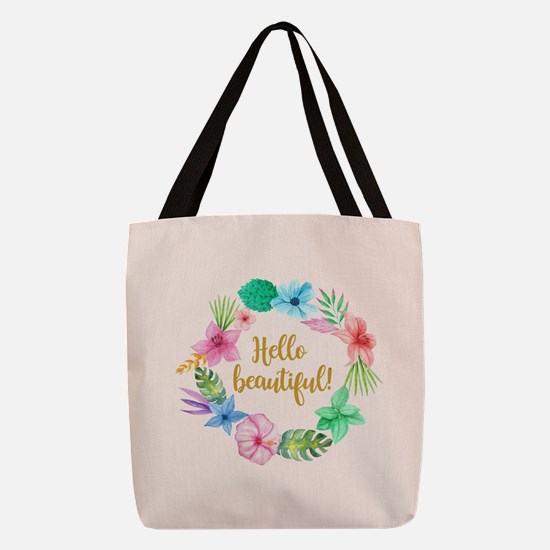 WREATH with WORDS Polyester Tote Bag