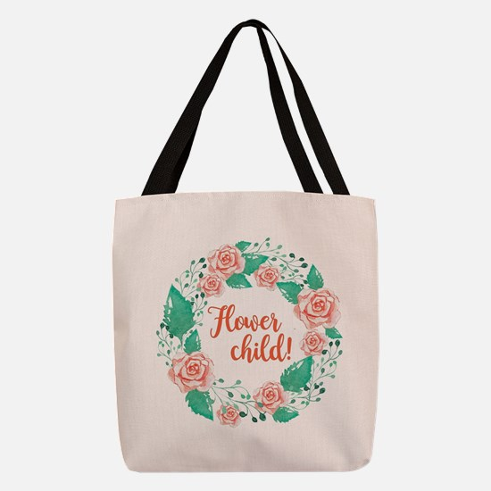 FLOWER CHILD! Polyester Tote Bag