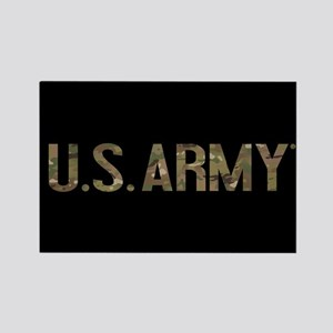 U.S. Army in Camouflage Rectangle Magnet