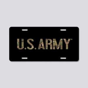 U.S. Army in Camouflage Aluminum License Plate