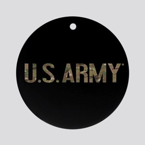 U.S. Army in Camouflage Round Ornament