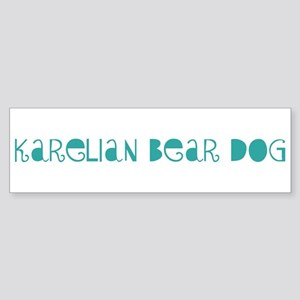 Karelian Bear Dog (fun blue) Bumper Sticker