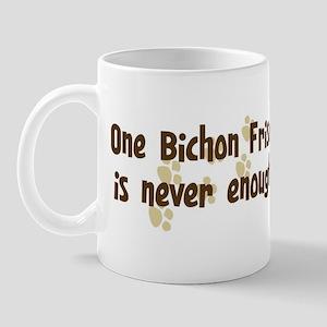 Never enough: Bichon Frise Mug
