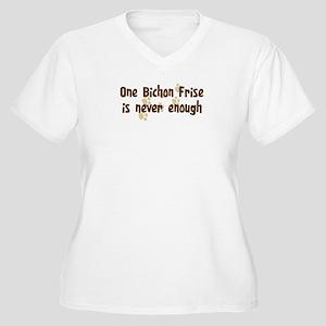 Never enough: Bichon Frise Women's Plus Size V-Nec