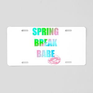 kiss spring break babe Aluminum License Plate