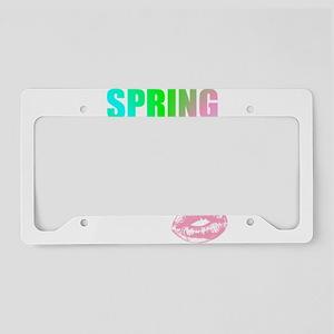 kiss spring break babe License Plate Holder