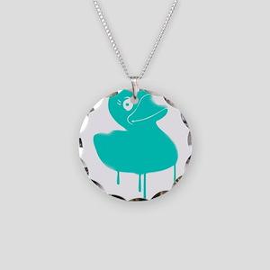 Rubber Duck Graffiti Necklace Circle Charm