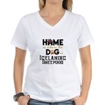 Home is where the dog is Women's V-Neck T-Shirt