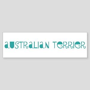 Australian Terrier (fun blue) Bumper Sticker