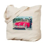 Red Studebaker on Both Sides of Tote Bag