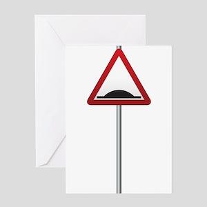 Bump Ahead Signpost Greeting Cards