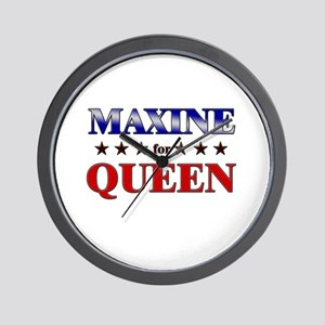 MAXINE for queen Wall Clock