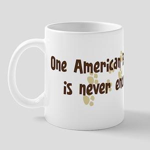 Never enough: American Bulldo Mug