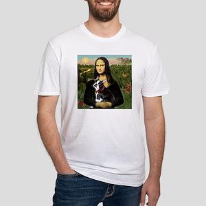 Mona Lisa's Boston Terrier Fitted T-Shirt