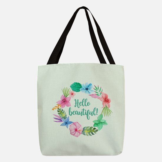 HELLO BEAUTIFUL! Polyester Tote Bag