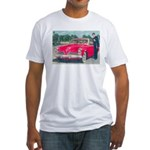 Red Studebaker on Fitted T-Shirt