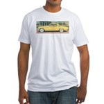 Yellow Studebaker on Fitted T-Shirt