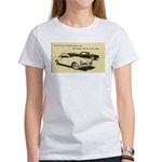 Two '53 Studebakers on Women's T-Shirt