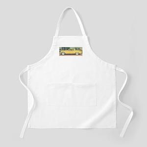 Yellow Studebaker on BBQ Apron