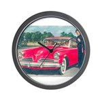 Red Studebaker on Wall Clock