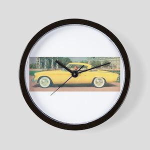 Yellow Studebaker on Wall Clock