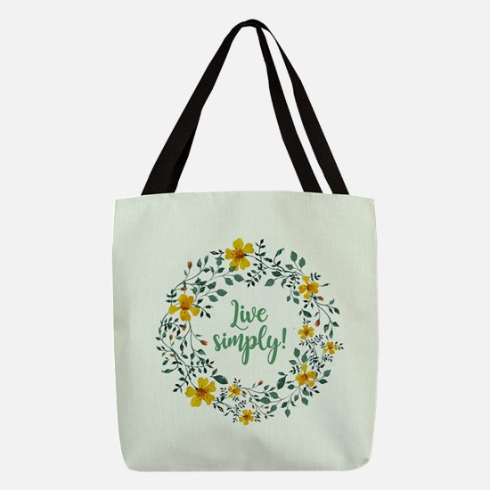 LIVE SIMPLY! Polyester Tote Bag