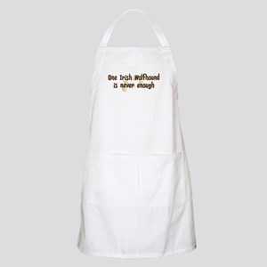 Never enough: Irish Wolfhound BBQ Apron